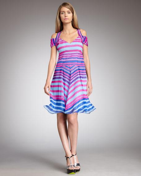 Talent Striped Silk Dress