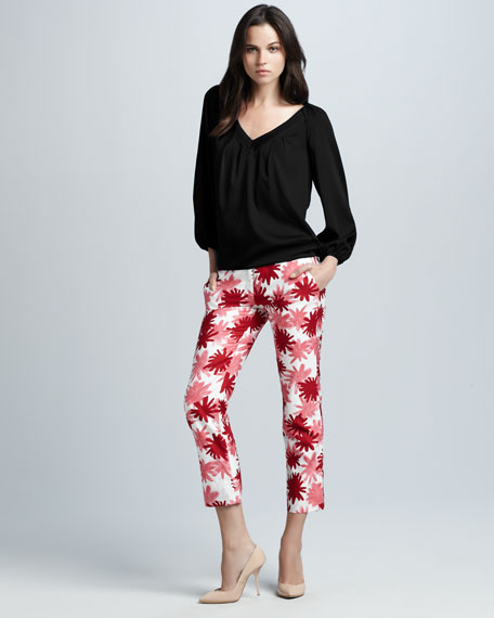 Georgia Printed Cropped Pants