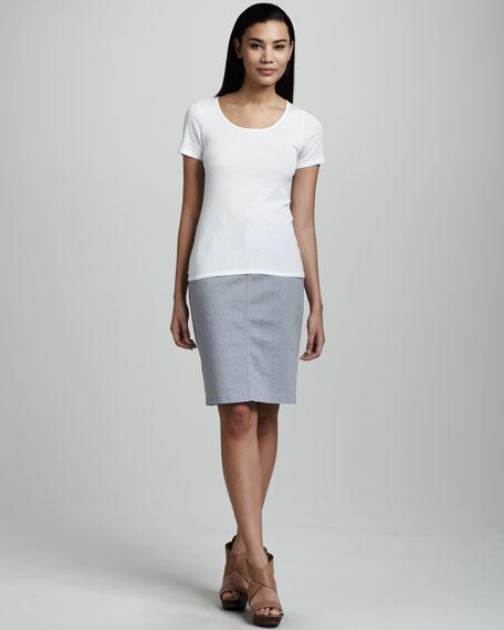 Emma Lizard-Print Skirt, Blue