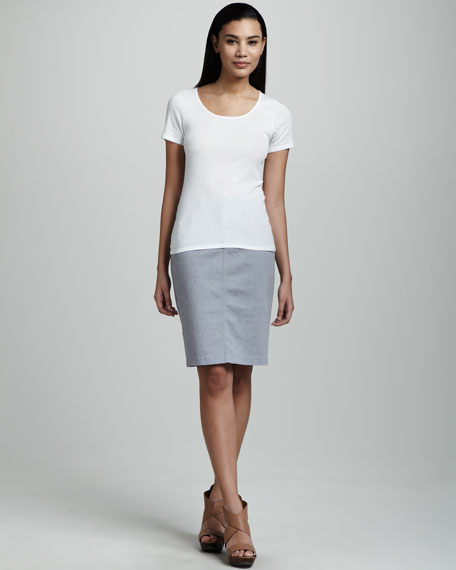 Emma Lizard-Print Skirt, Petite, Blue