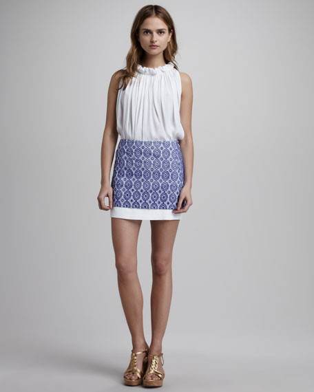 Elley Mini Lace Eyelet Skirt