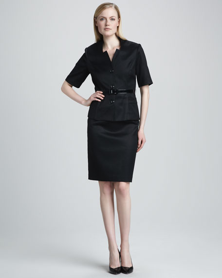 Half-Sleeve Belted Suit