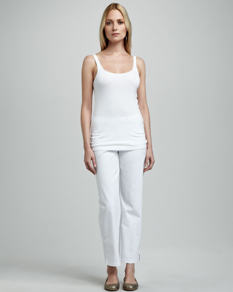 Twill Ankle Pants