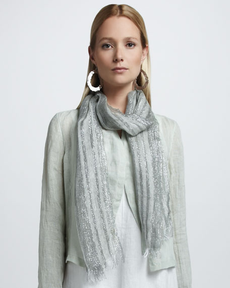 Shimmery Striped Scarf