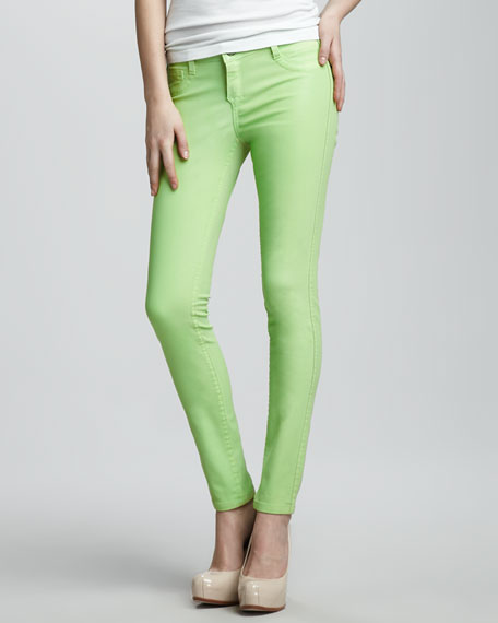 Detour Reversible Denim Leggings, Kiwi
