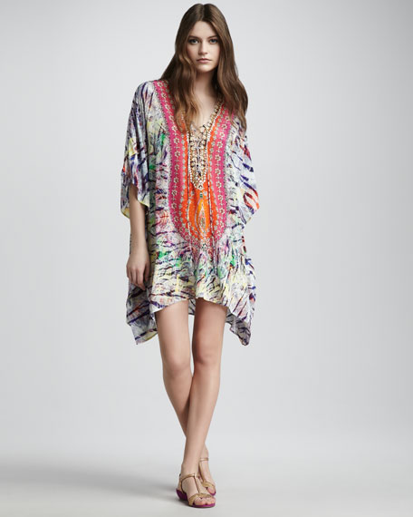 Tropical Lace-Up Caftan