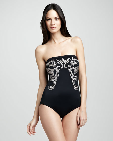 Rhode Island Embroidered One-Piece