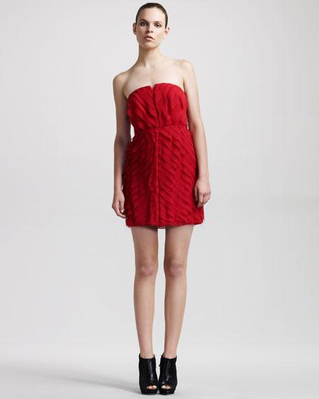 Bias-Tier Silk Dress