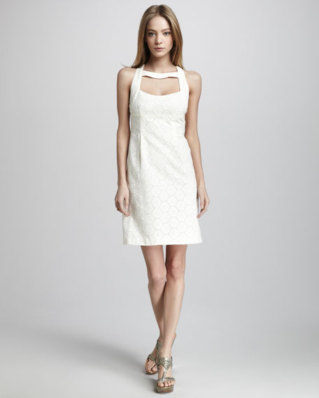 Santa Monica Eyelet Dress, Ivory