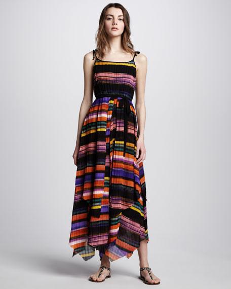 Tahoe Rainbow-Stripe Maxi Dress