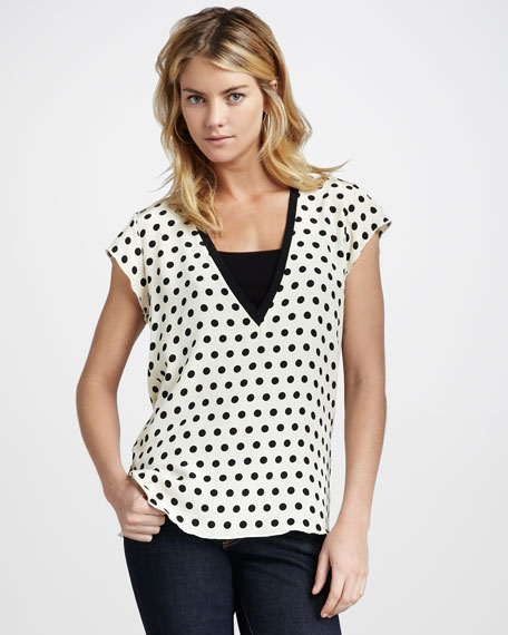Polka-Dot Top
