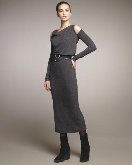 Cold-Shoulder Long Dress