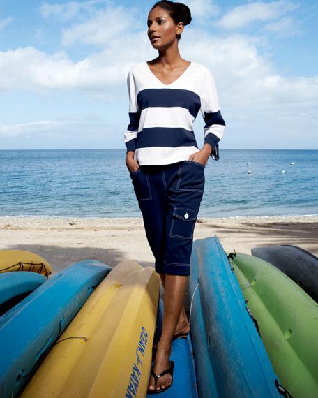 Striped Tee & Cargo Shorts