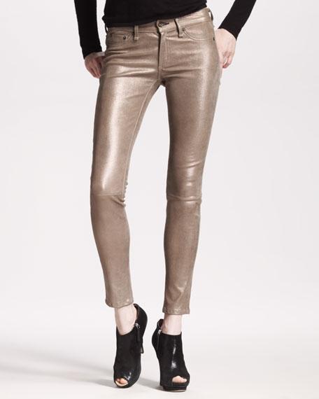 rag & bone/JEAN The Skinny, Bronze Leather