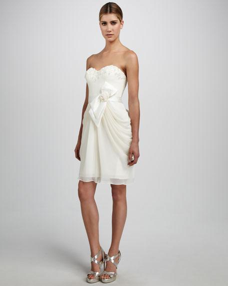 Strapless Applique Dress