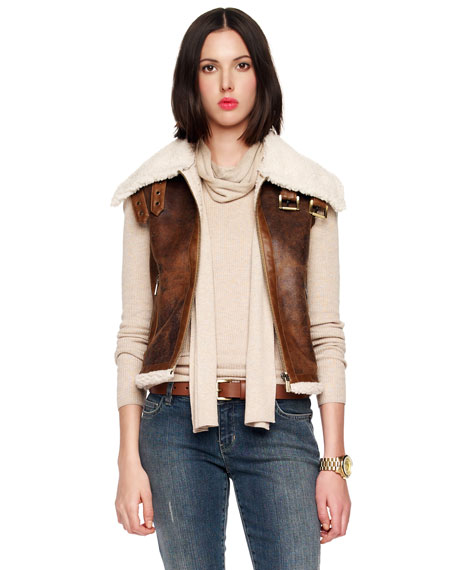 Plush-Line Aviator Vest