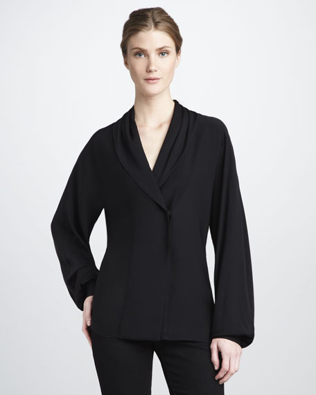 Astor Shawl-Collar Top