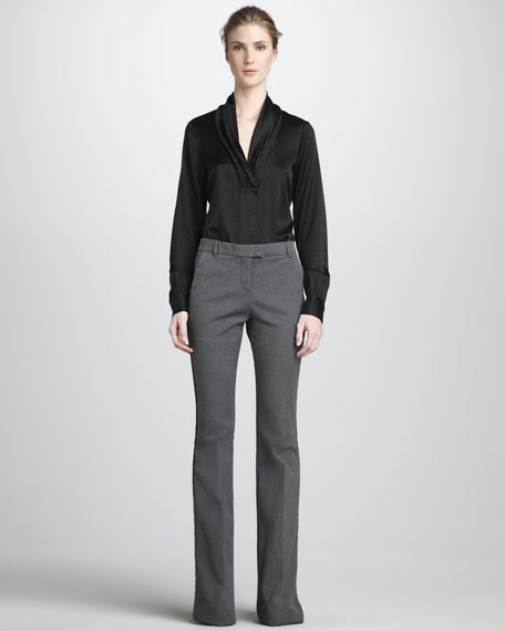 Hutton Flared Pants, Faded Black