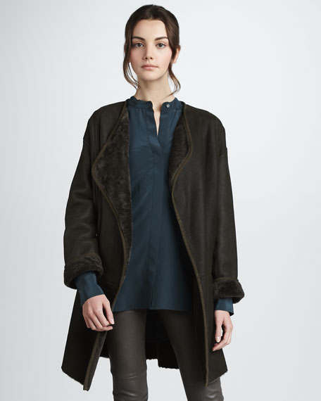 Shearling Cardigan Coat