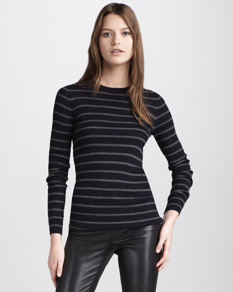 Ribbed Crew-Neck Top