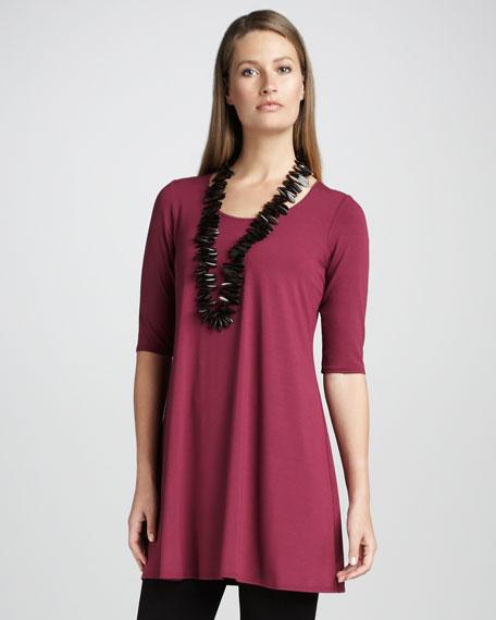 Half-Sleeve Jersey Tunic