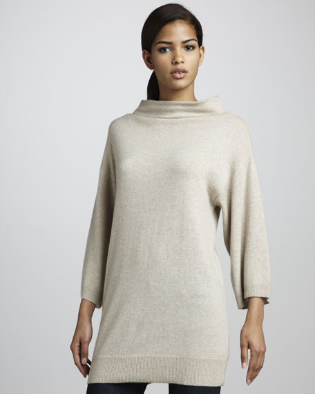 Funnel Collar Cashmere Tunic