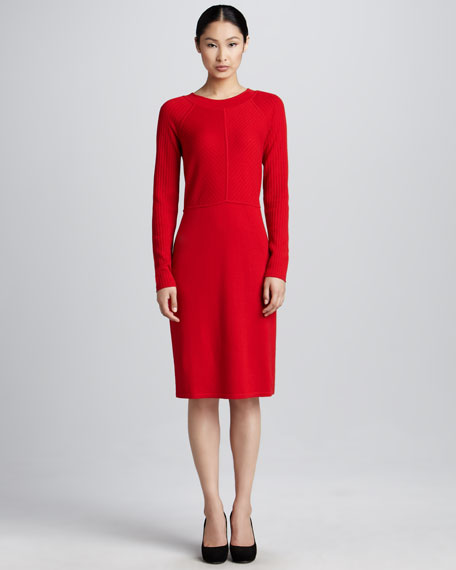 Long-Sleeve Wool Dress, Women's
