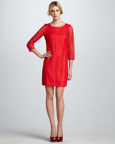 Circle-Lace Back-Cutout Dress