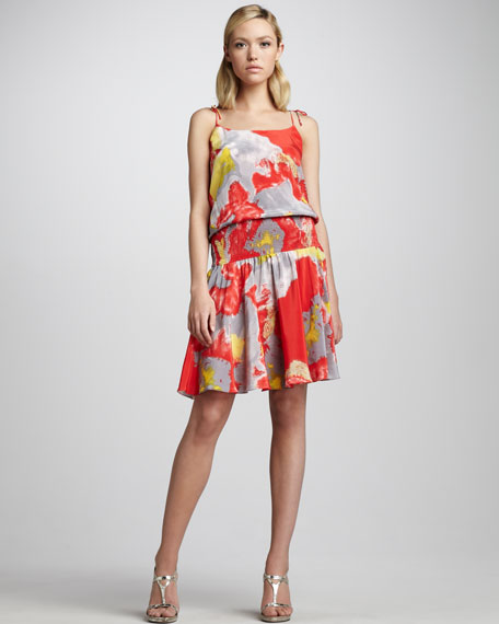 Smock-Waist Dress