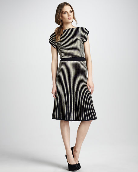 Paulina Striped Sweaterdress