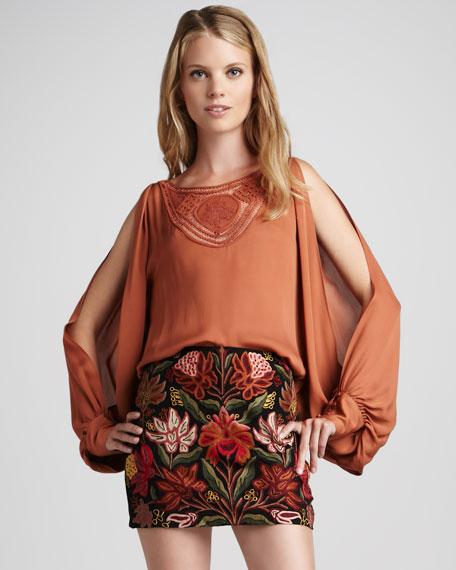 Embroidered Miniskirt