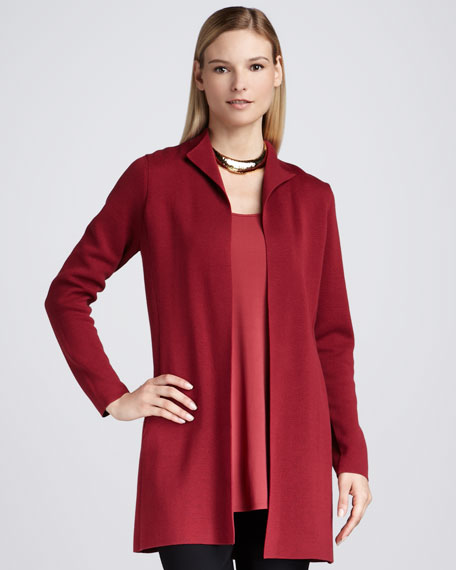 Long High-Collar Jacket