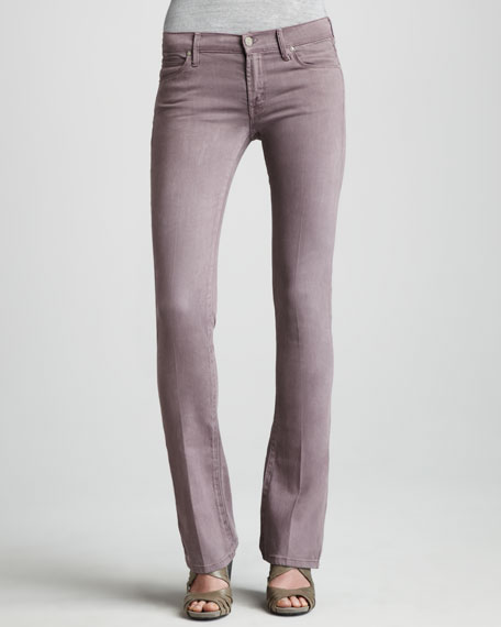 The Runaway French Lilac Skinny Boot-Cut Jeans