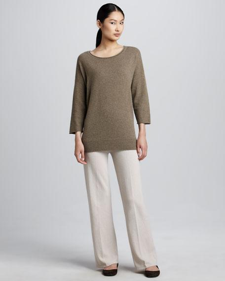 Wide-Leg Cashmere Pants