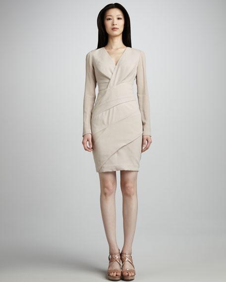 Chiffon-Detail Dress