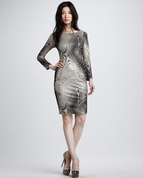 Linden Swirl-Print Dress