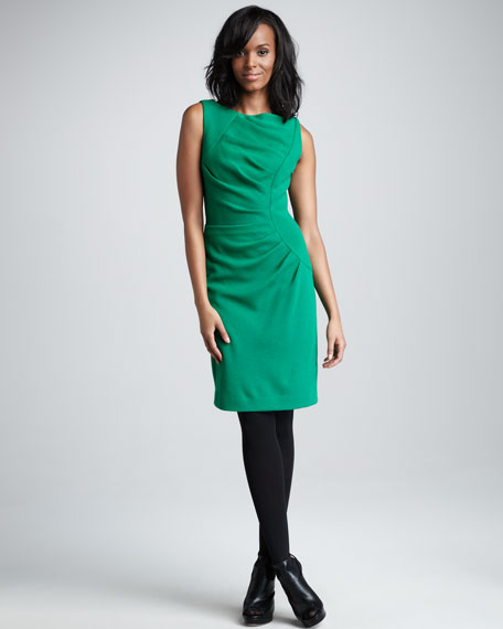 Tucked Sheath Dress