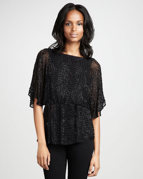 Paulina Beaded Top