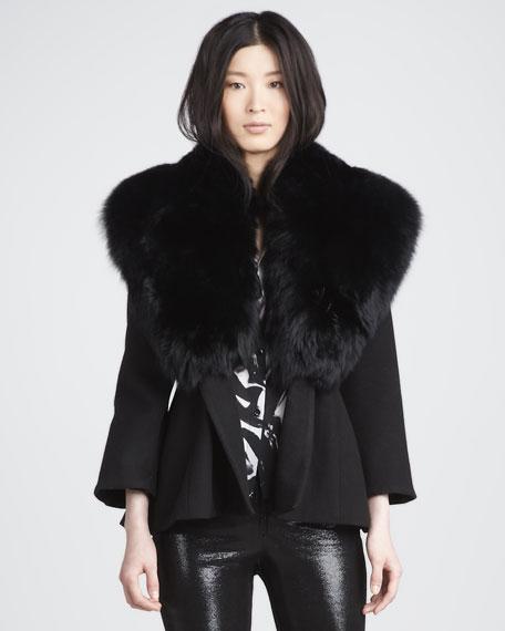 Kyah Fur-Collar Coat