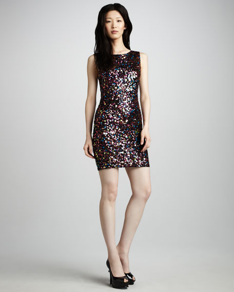 Mona Sleeveless Sequined Dress