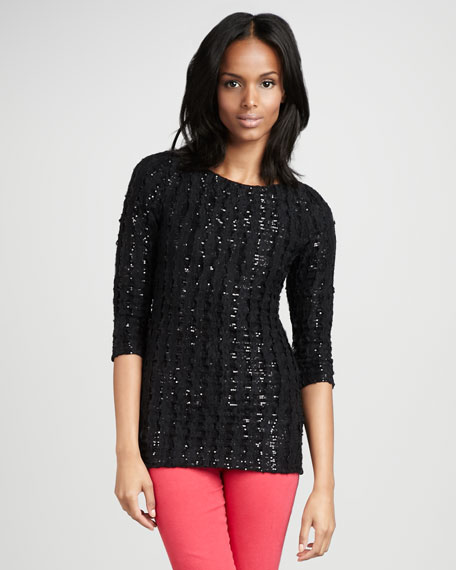 Margee Slim Sequined Top