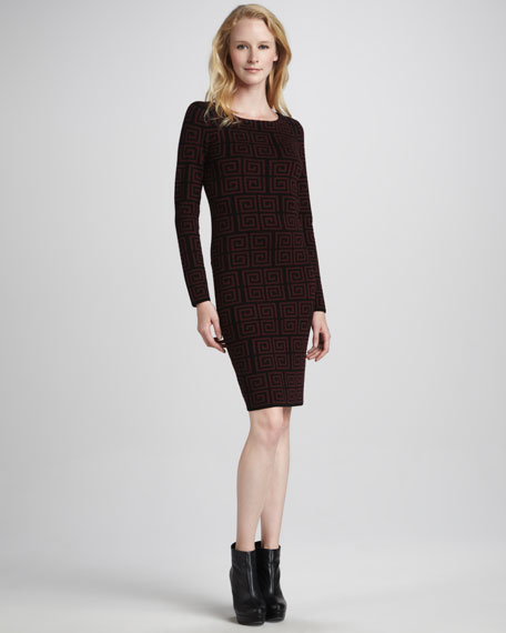 Nada Printed Sweaterdress