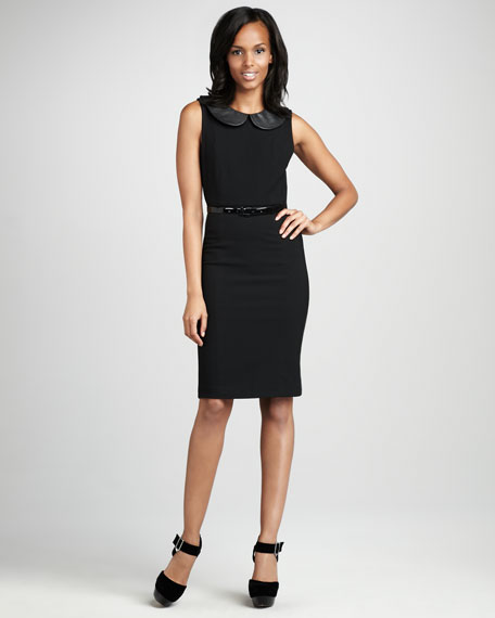 Osie Leather-Trim Dress