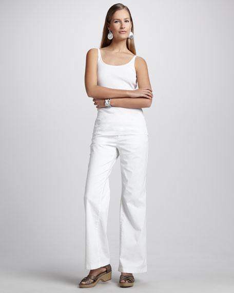 Wide-Leg Stretch Jeans, Petite