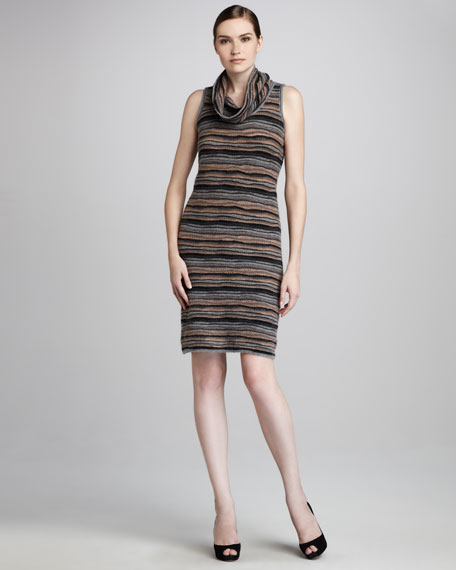 Wave-Stitch Cashmere Dress