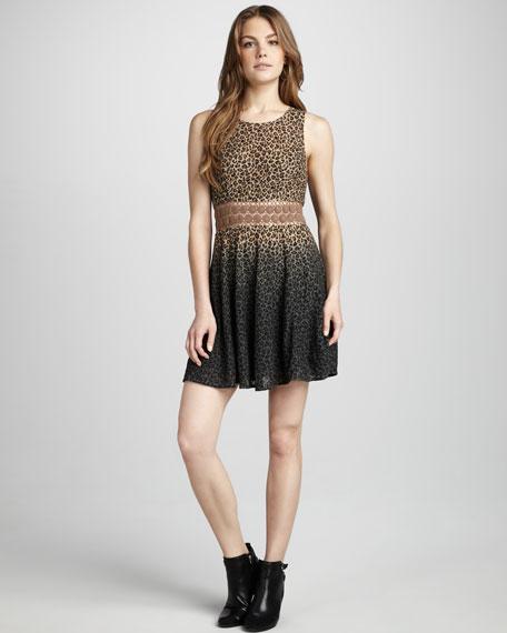 Leopard Daisy Crochet Dress