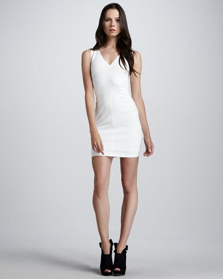 Slim V-Neck Dress