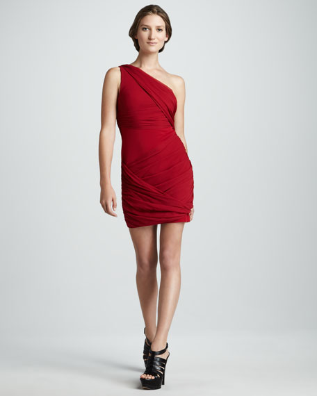 Wrapped Goddess Dress, Red