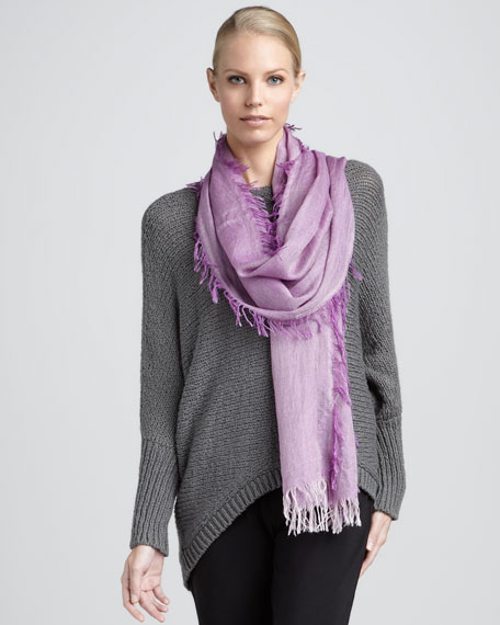 Cross-Dyed Silk-Cashmere Wrap