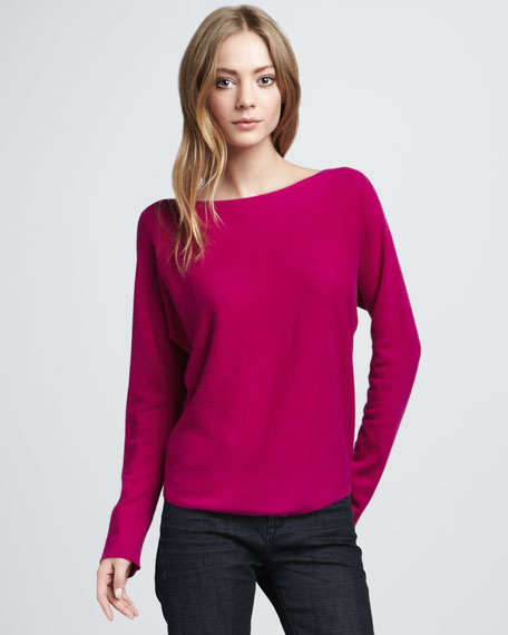 Boat-Neck Cashmere Sweater